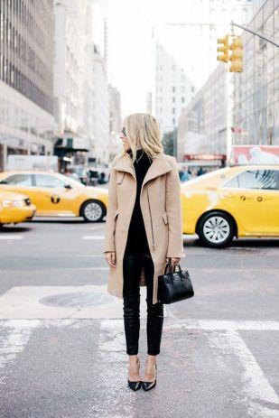 cozy camel coat