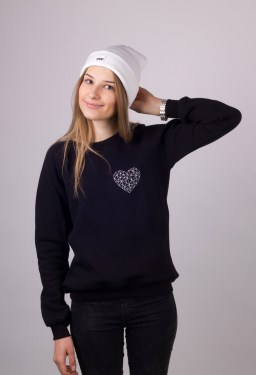 black sweatshot with heart by ShopLaLune