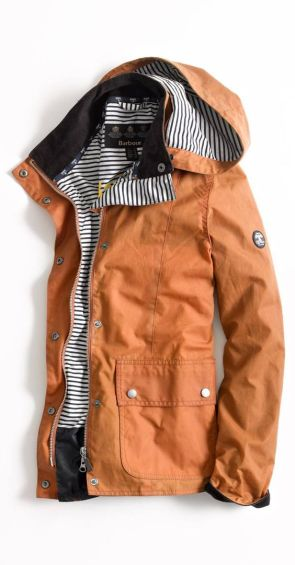 casual brown parka for spring