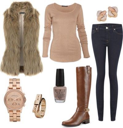 what to wear with faux fur vest