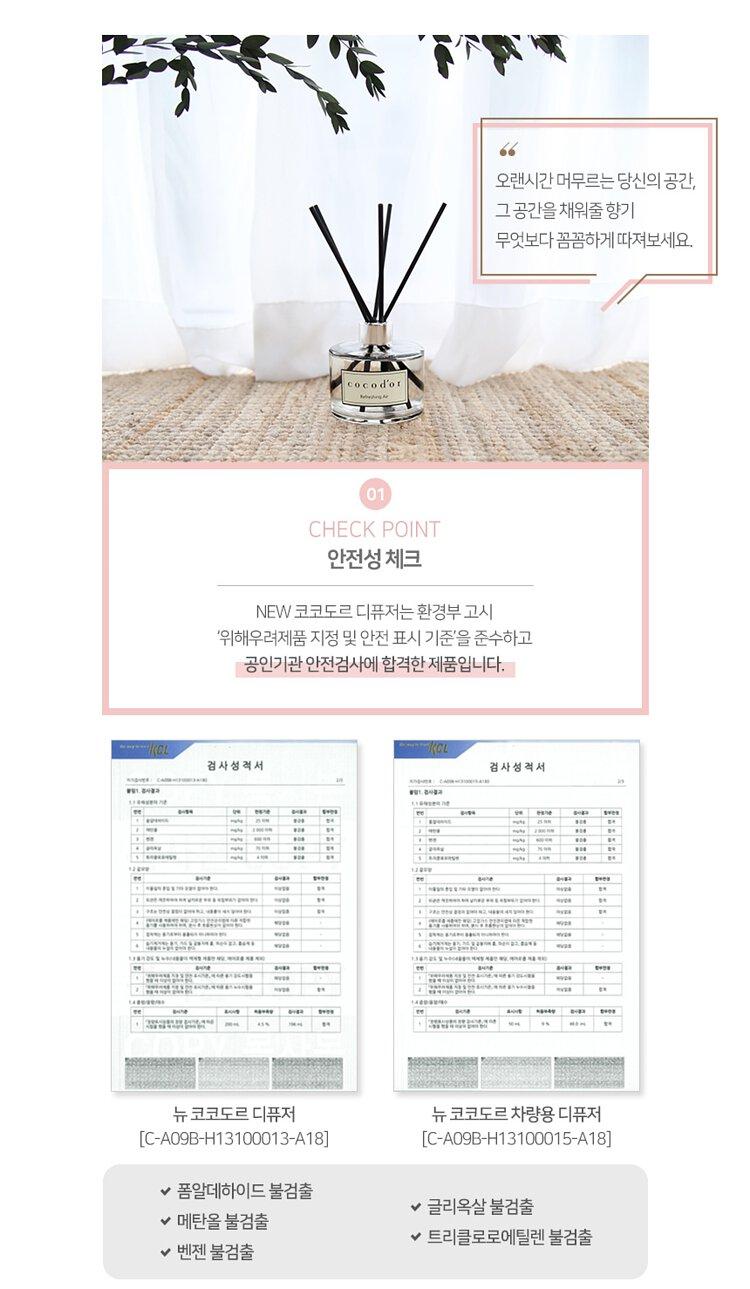 韓國 Cocod'or 花花香氛擴香瓶120ml - Pure Cotton