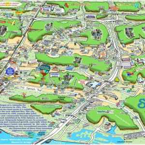 Slidell Caricature Map