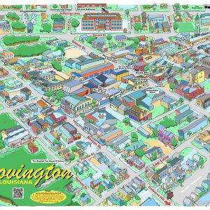 Downtown Covington Caricature Map