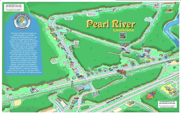 Pearl River Caricature Map