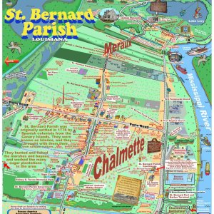 St Bernard Caricature Map
