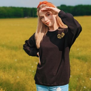 Pasta Heart Embroidered Jumper