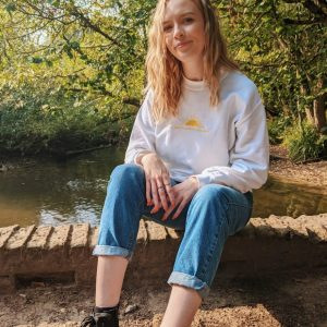 Here Comes the Sun Embroidered Jumper
