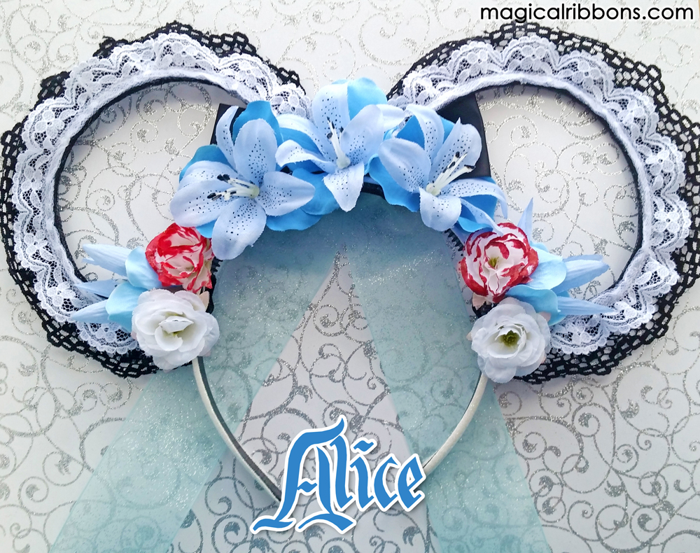 Mouse Ears Flower Crowns Magical Ribbons