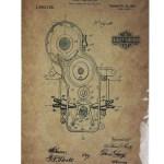 1920 Engine Patent Harley Davidson Motorcycle Tin Metal Sign 0417a