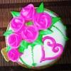 Vannila Cake top