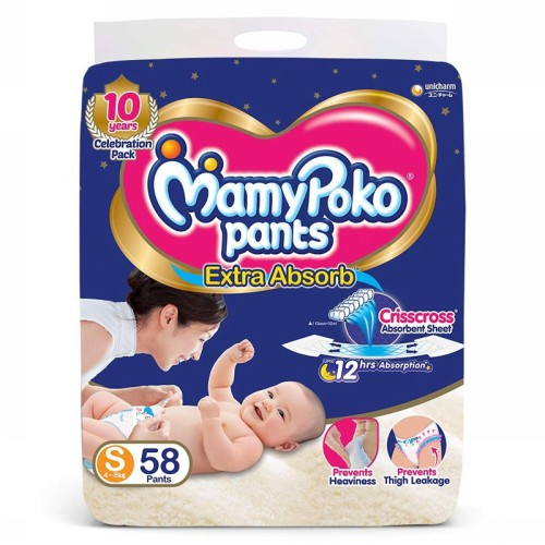 MamyPoko-Pants-Extra-Absorb-Diaper,-Small-(58-Count)