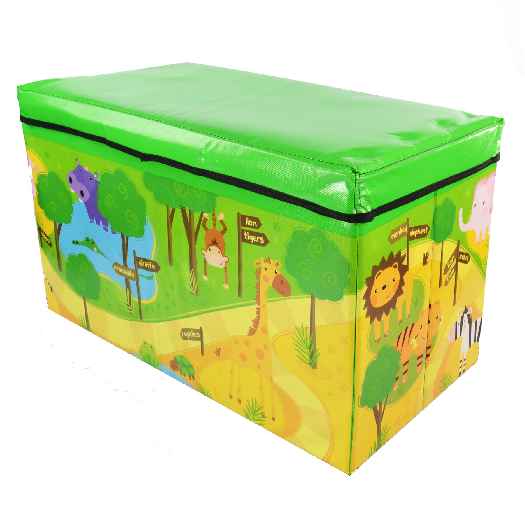 New Safari Bus Kids Folding Storage Bin Toy Box Clothes: Childrens Storage Chest