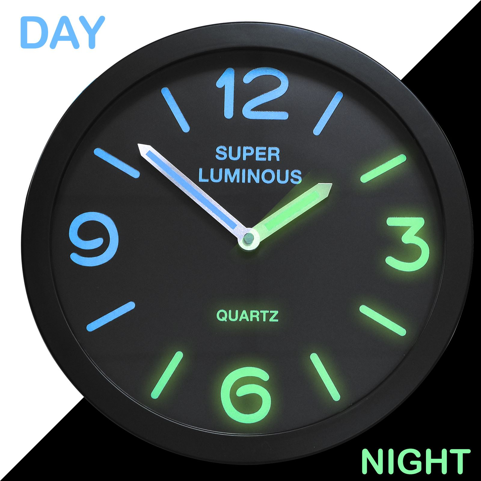 kitchen cooking games chandelier 12″ glow in the dark wall clock – shopmonk