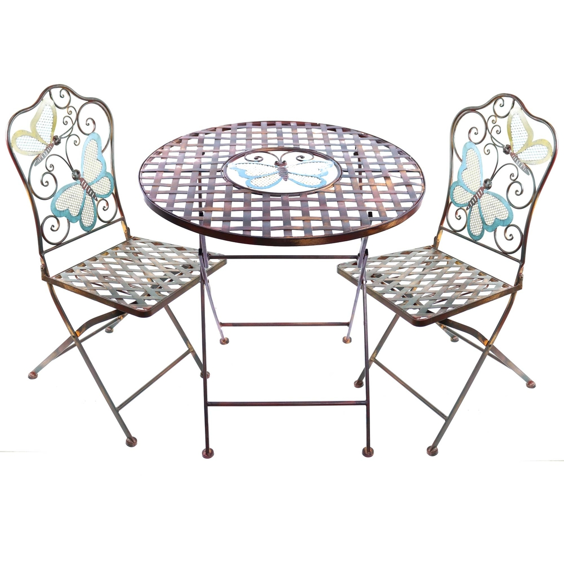 Table With Two Chairs Alpine Butterfly Bistro Table And Two Chairs Set Patio Sets