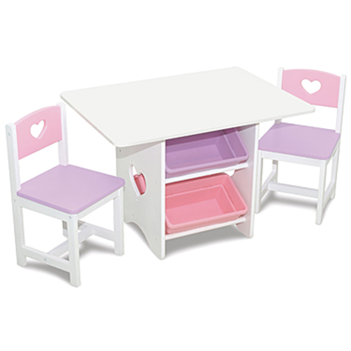 Kidkraft Heart Table And Chair Set Kidkraft Heart Table Set With Pastel Bins Easels