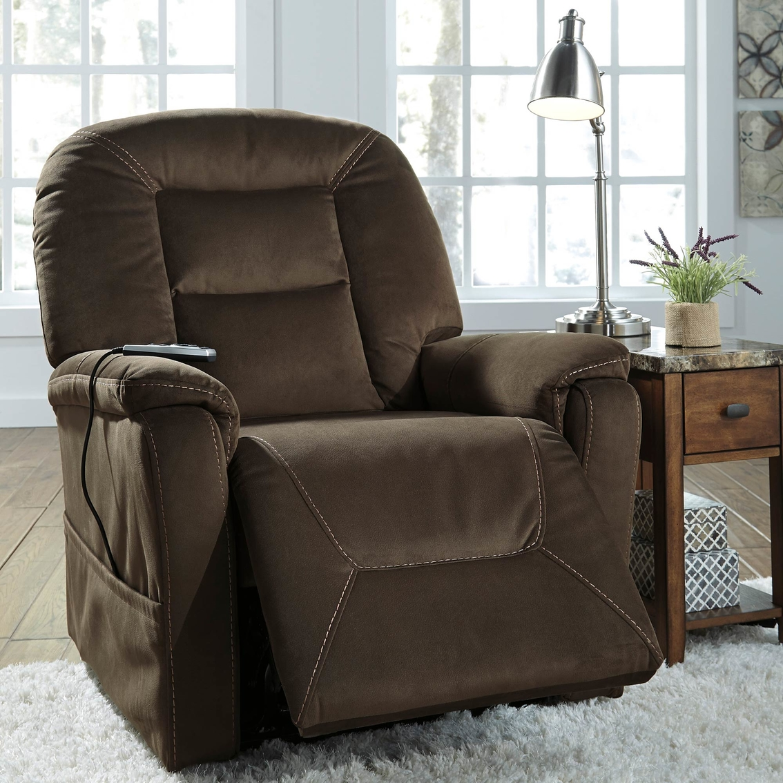 Ashley Furniture Recliner Chairs Ashley Samir Power Lift Recliner With Heat And Massage Chairs