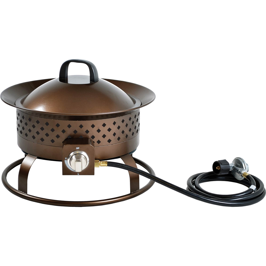 Bond Manufacturing 19 In Wide Solara Stainless Steel Gas Bowl Bond Portable Fire Pit