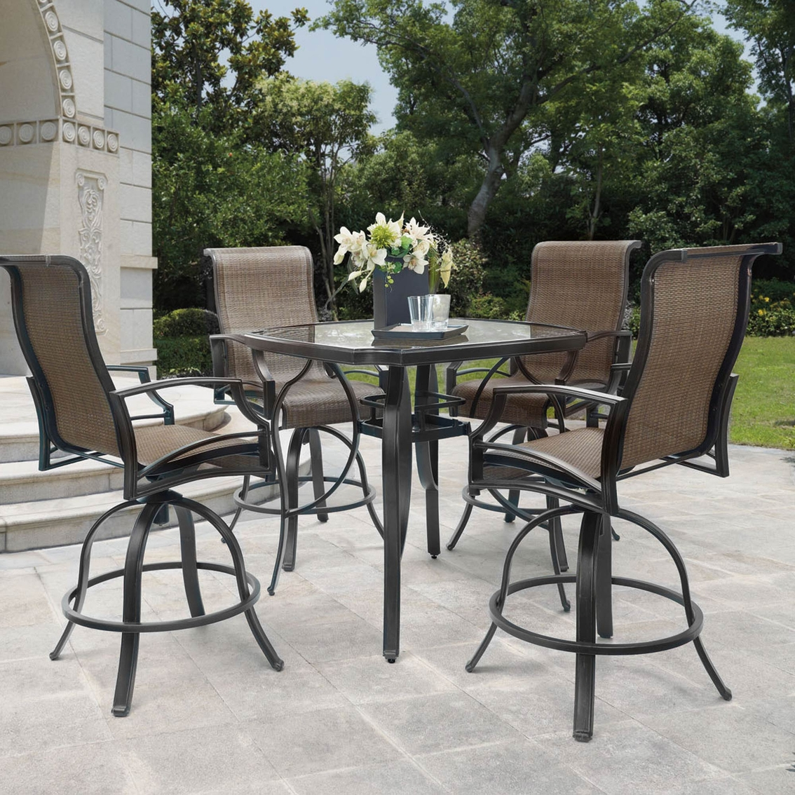Balcony Height Patio Chairs Patio Logic Garden Point 5 Pc Balcony Height Dining Set