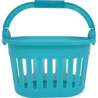 Homz Frosted Shower Caddy With Handle