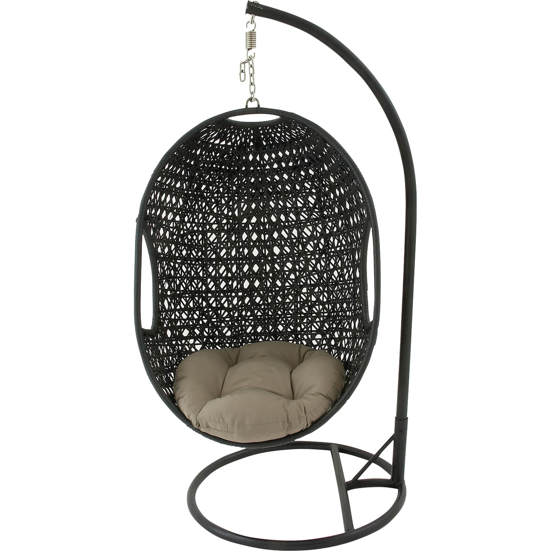 Pod Swing Chair Hanover Outdoor Hanging Wicker Pod Swing With Cushion