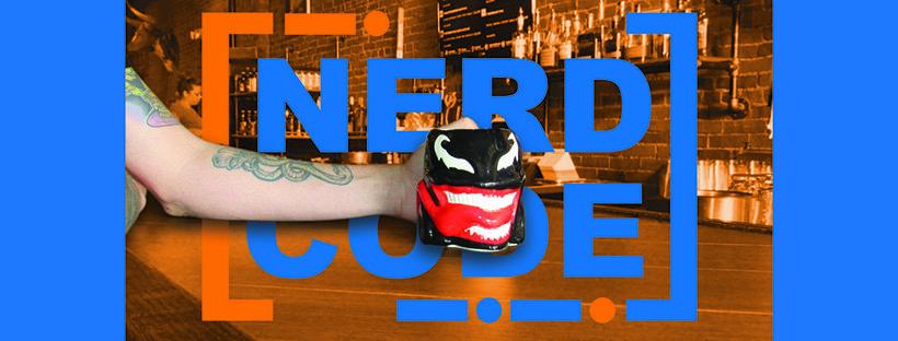 Nerd Code coffee mug banner