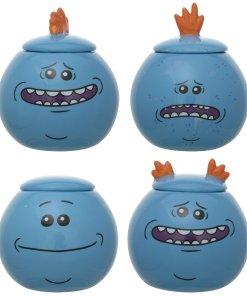 Meeseeks cookie jars from Rick and Morty
