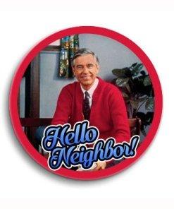 Mr Rogers Hello Neighbor button
