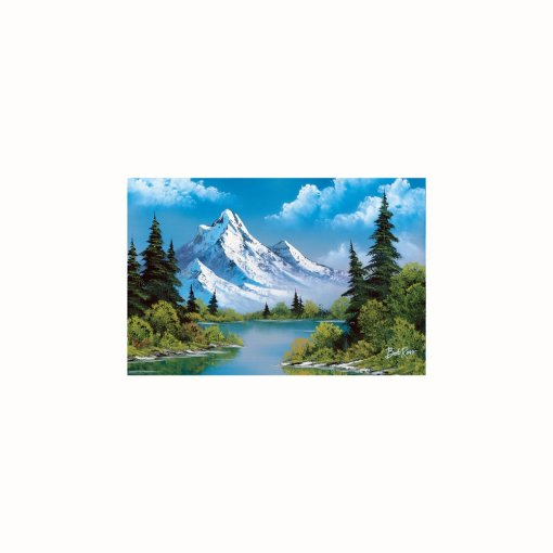 Bob Ross mountain landscape tapestry