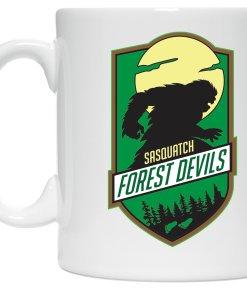 Sasquatch Forest Devils coffee mug