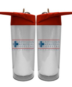 Two Grey's Anatomy water bottles