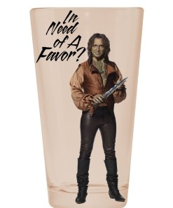 Mr Gold from Once Upon A Time on a pint glass
