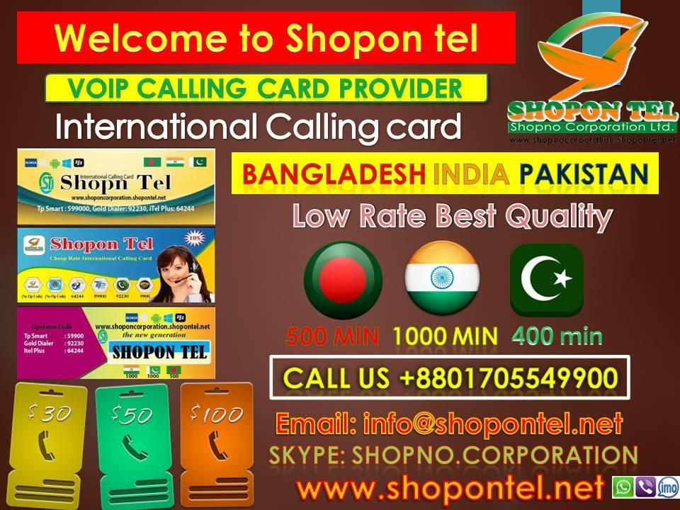 Calling Card Reseller By Shopon Tel