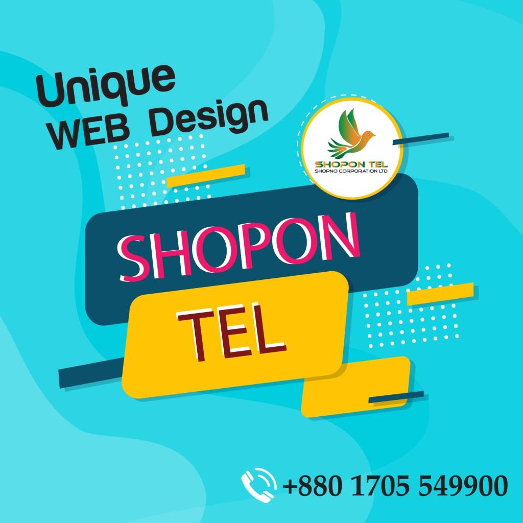 Low Rate ##Web Design ##Shopon Tel