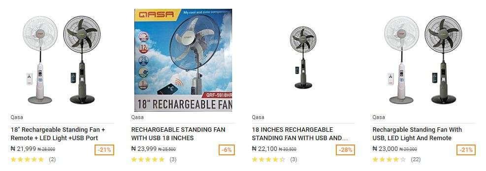 QASA Standing Rechargeable Fan