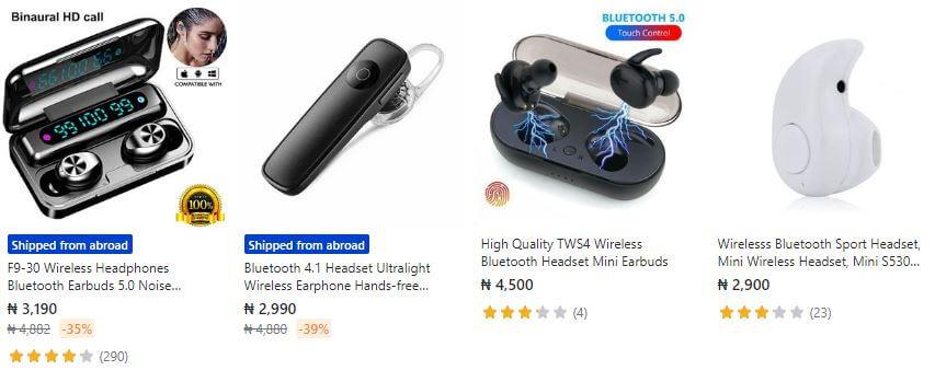 Earbud Bluetooth