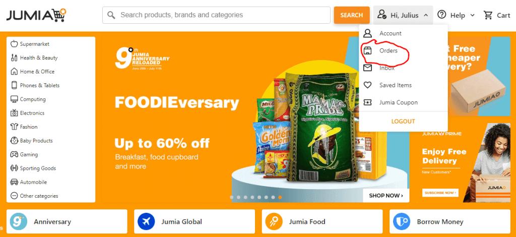 Jumia Orders