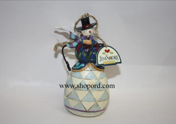 Jim Shore Snowman With Pipe Hanging Ornament 4017602