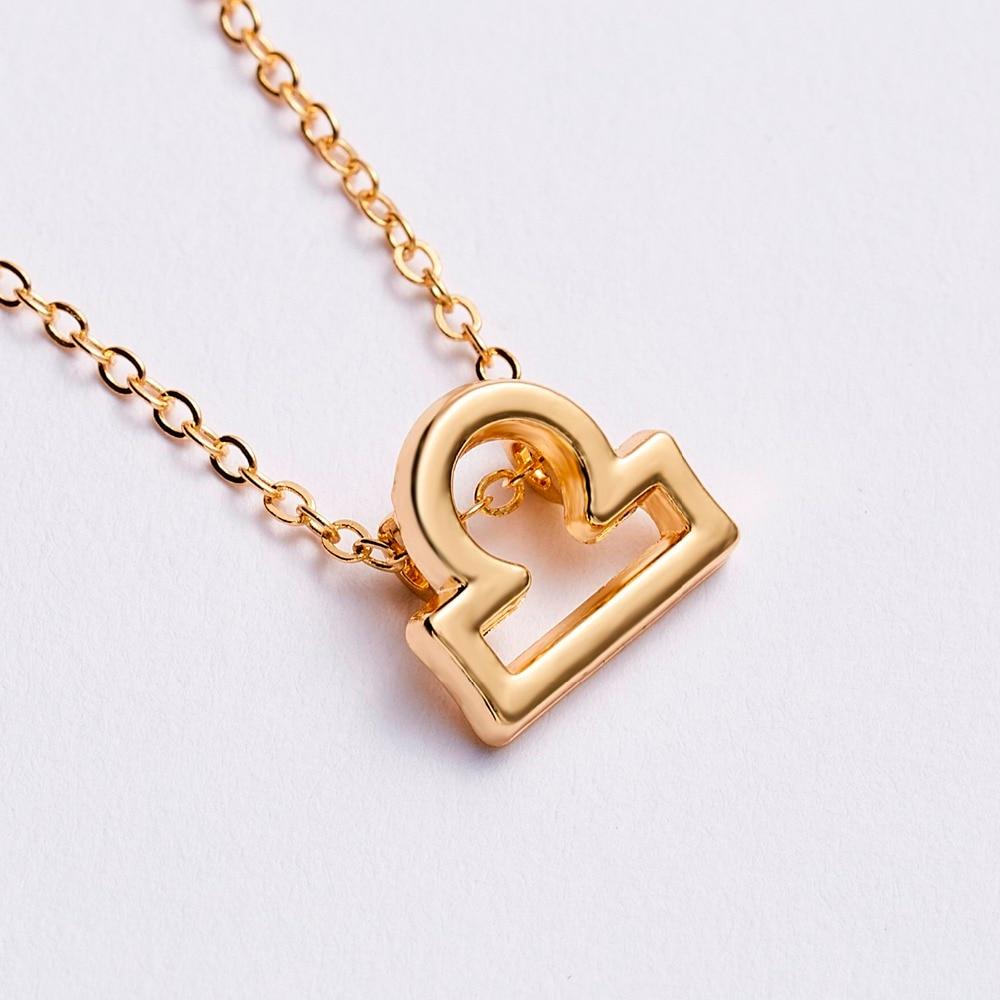 Women's Elegant Zodiac Sign Pendant Necklace