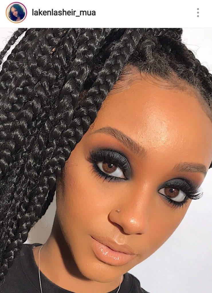 black makeup artist