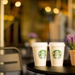 Starbucks styrofoam coffee cups