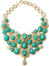 BeyondTheRack -Amrita Singh Crystal South Fork Bib Turquoise Necklace