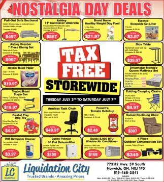 ads for liquidation city in norwich on