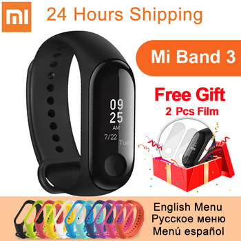 Original Xiaomi Mi Band 3 Smart Wristband miband 3 fitness Heart Rate Tracker 0.78 inch OLED Push Message Call xiaomi band 3