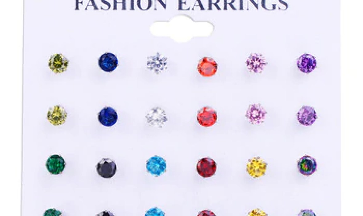 Bettyue Brand Fashion Shining Cute AAA Round Cubic Zircon Multicolor Ear Studs Jewelry Earrings For Woman Wedding Party Gift