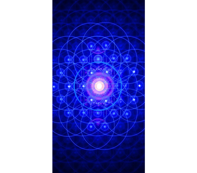 Ancient Egypt Geometry Symbol&Flower Of Life  Bamboo Fiber Bathroom TowelsSuper Water-absorbing Beach Towel In Size 35CMX70CM