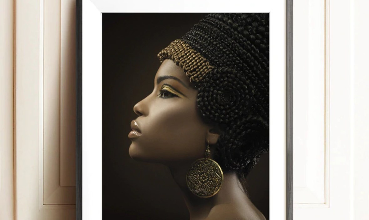 Ancient Egypt Queen Poster Black Women Canvas Painting African Woman Wall Picture Art Oil Painting Prints Room Wall Art Decor