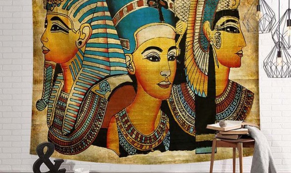 Ancient Egypt Women Wall Tapestry Indian Blanket Fabric Wall Hanging Decorations For Home