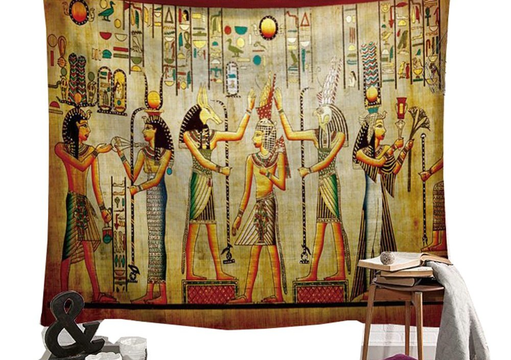 The God of Ancient Egypt Tapestry Wall Hanging Egypt Ra Seth Hippie Bohemian 3D Wall Tapestry Fairy Tale Wall Blanket Carpet