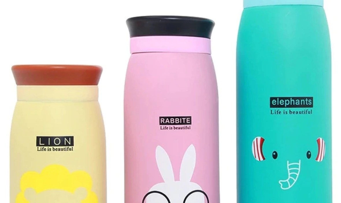 Sale High Quality 1PC Water Bottles Cute Cartoon 260ML Children 350ML Hot Sale Vacuum 500ML Stainless Steel Thermal For Kids