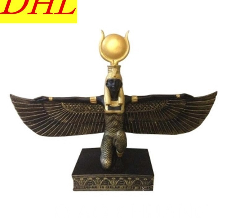 Creative Ancient Egypt Wing Sun Goddess Egypt Goddess Resin Craftwork Bedroom Furnishing Articles G1303